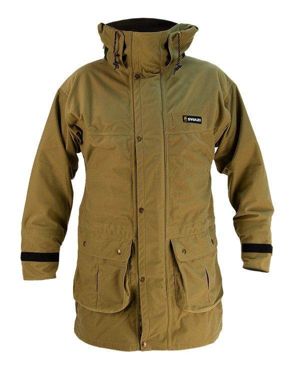 Wapiti coat - Hood Down - Tussock Green