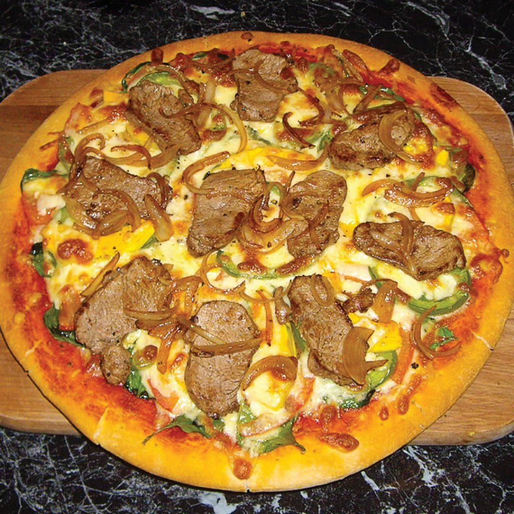 Venison pizza