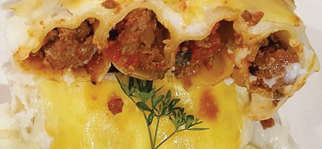 Venison cannelloni