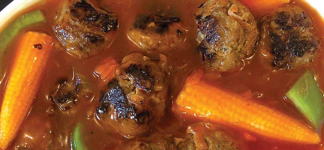 Venison meatballs in sweet and sour sauce