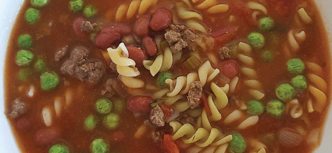 Venison minestrone soup