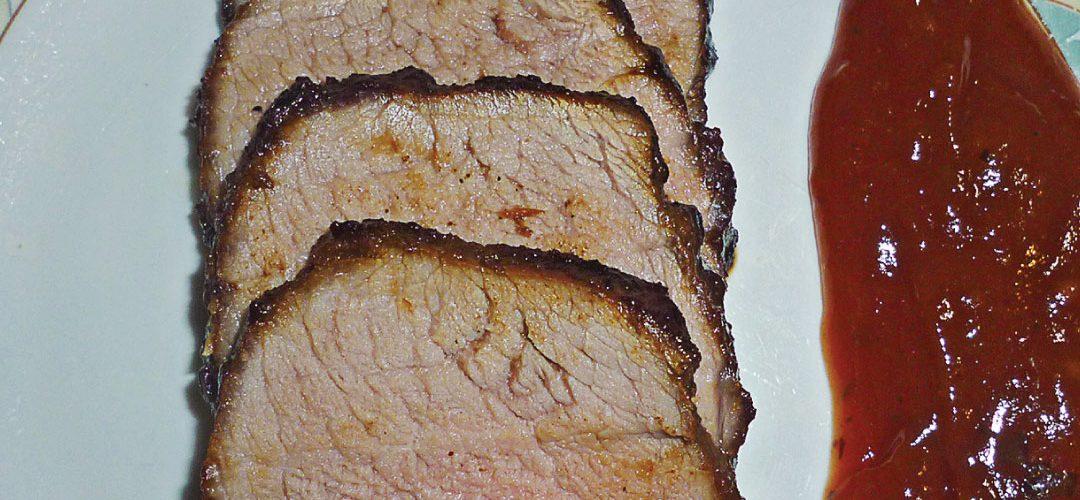 Dry rubbed spiced venison backstrap